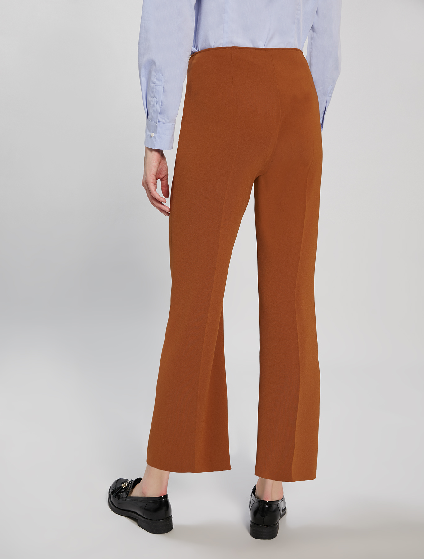 Flowing kick-flare trousers - bronze - pennyblack
