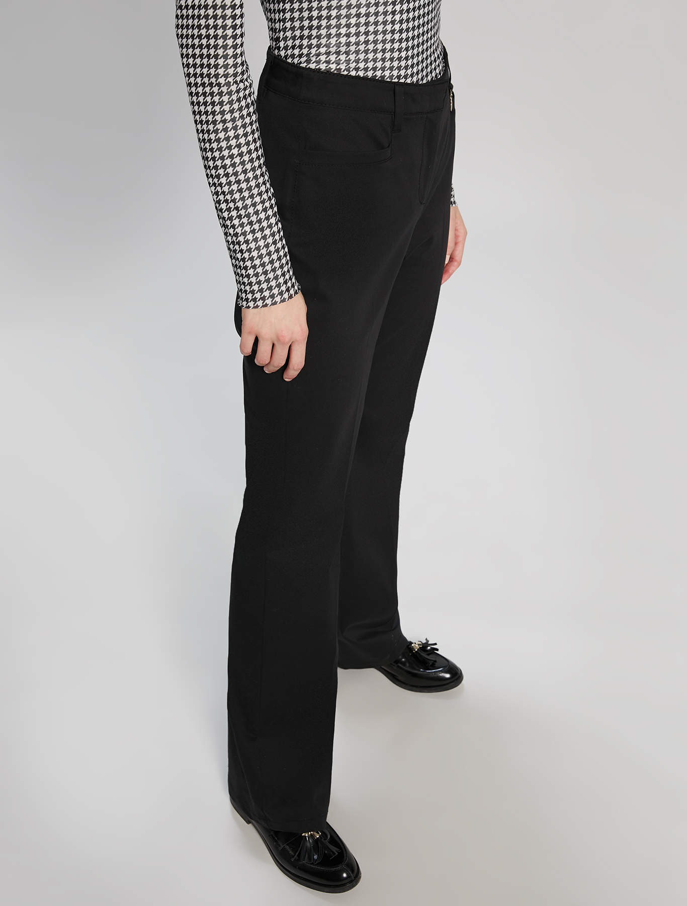 Cotton satin trousers - black - pennyblack