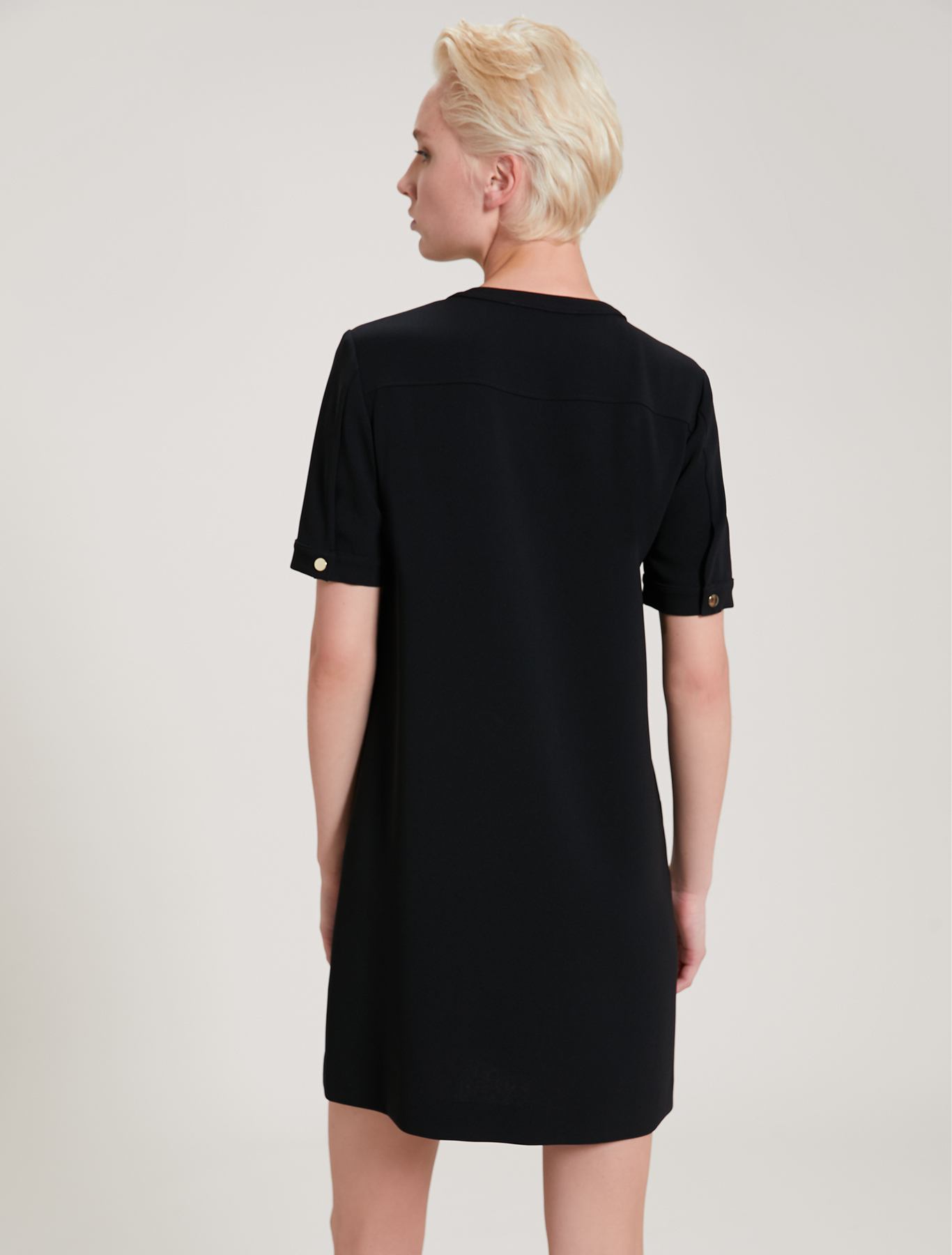 Flowing fabric dress - black - pennyblack