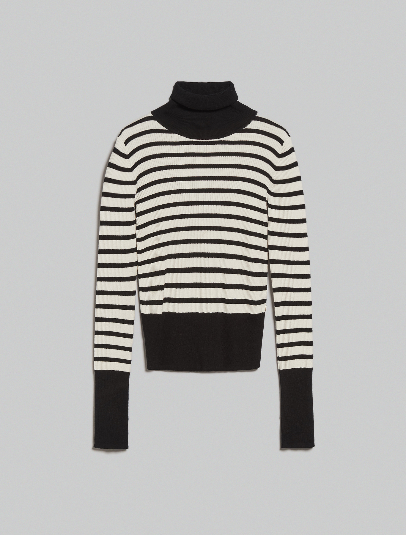 Cotton and cashmere turtleneck - black - pennyblack