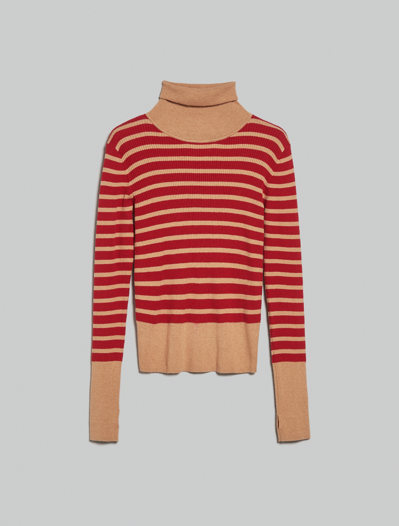 Cotton and cashmere turtleneck - red pattern - pennyblack
