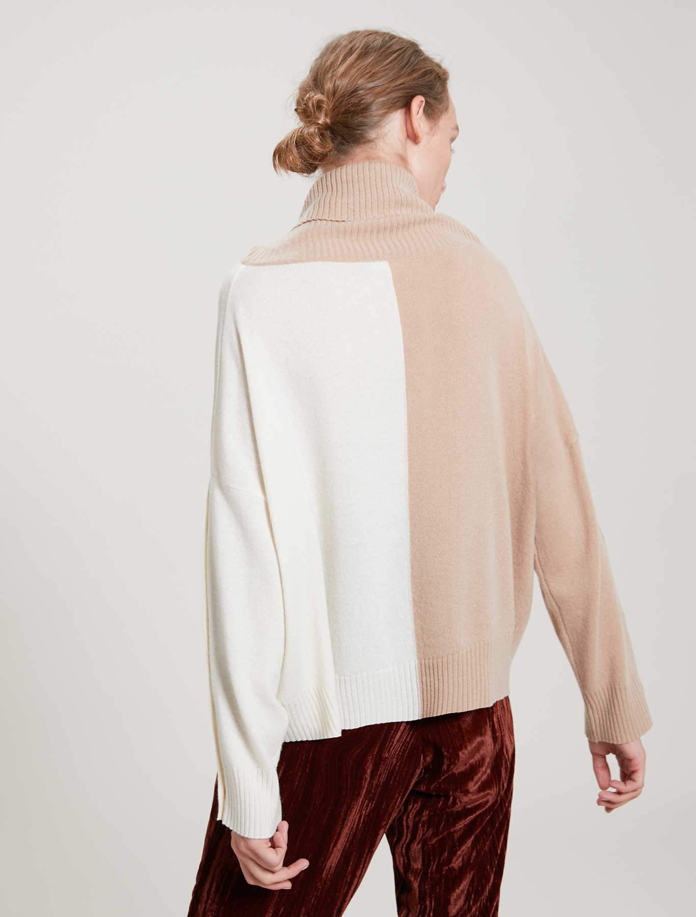 Wool and cashmere jumper - camel pattern - pennyblack