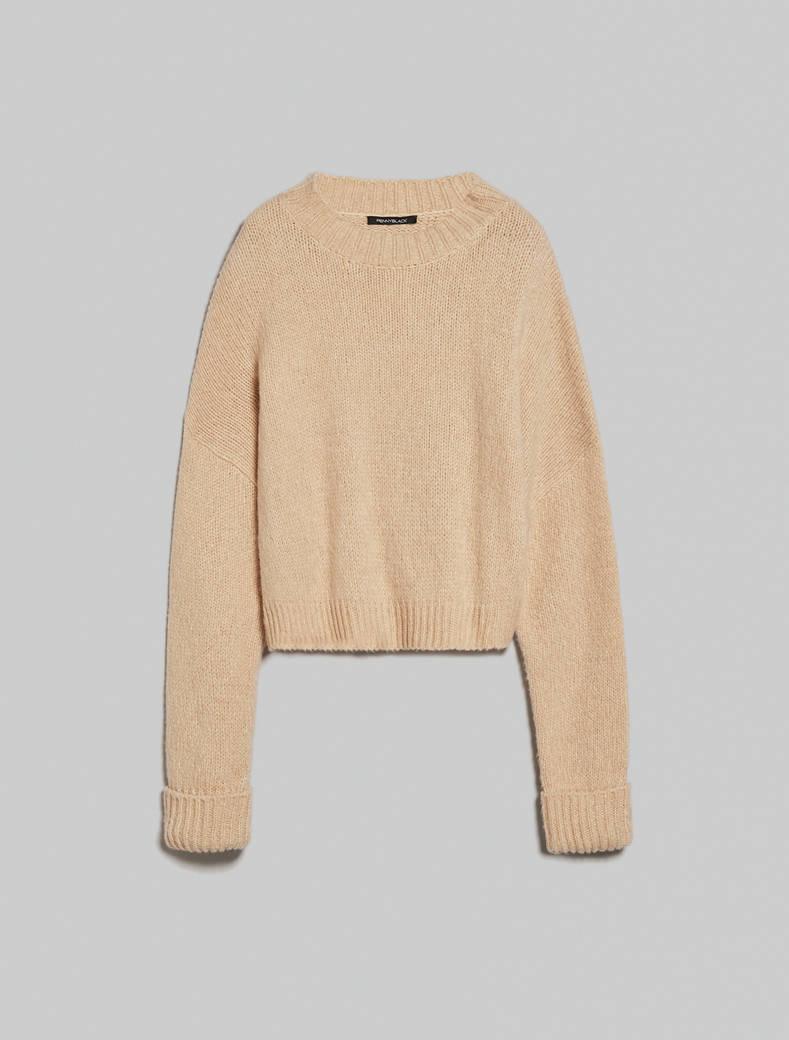 Maglia in blend di lana e alpaca - cammello - pennyblack