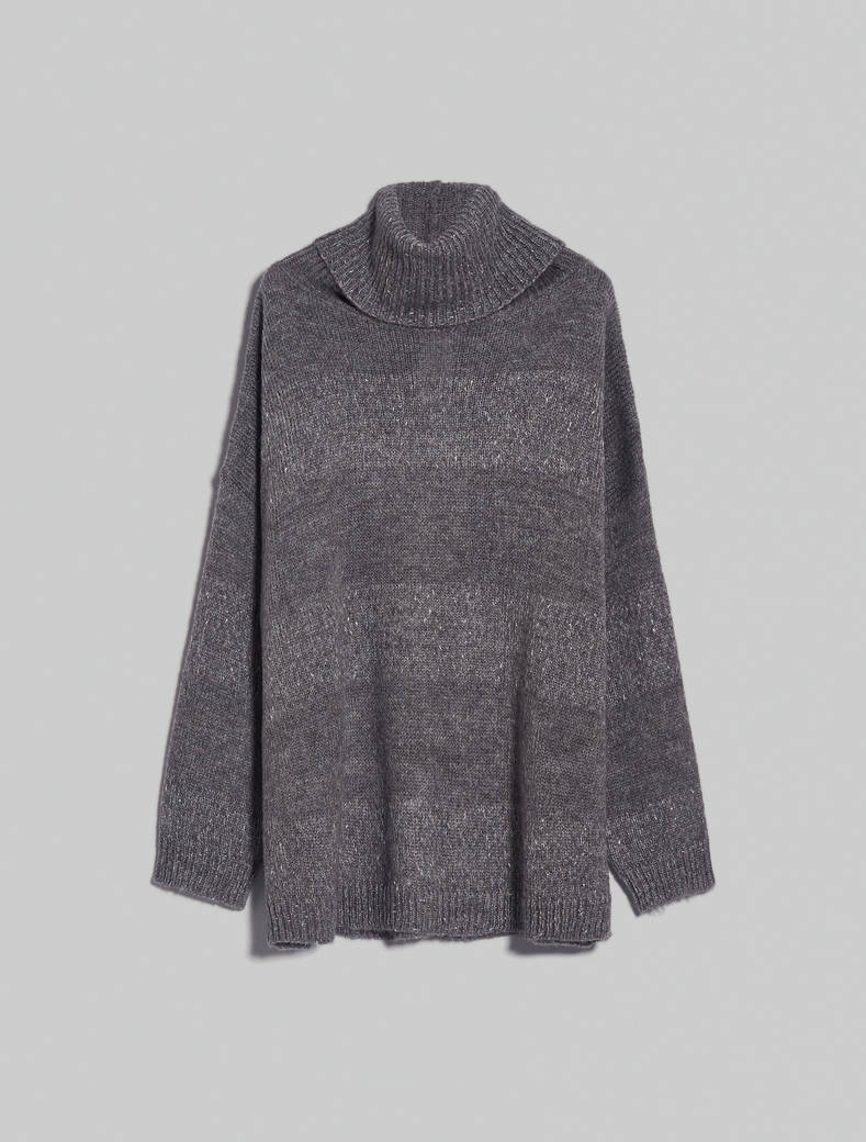 Oversized lamé jumper - dark grey - pennyblack