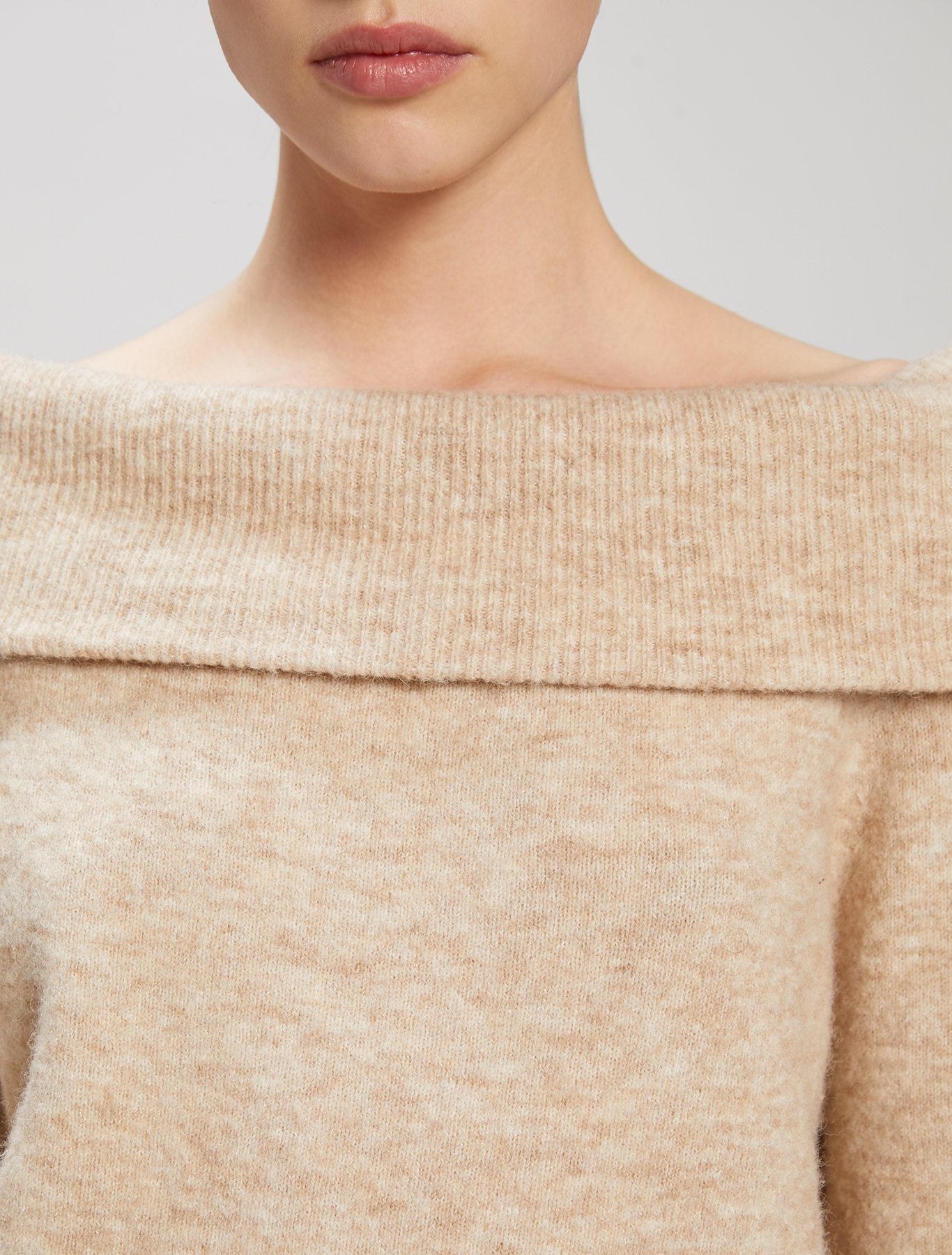 Ring collar jumper - beige - pennyblack