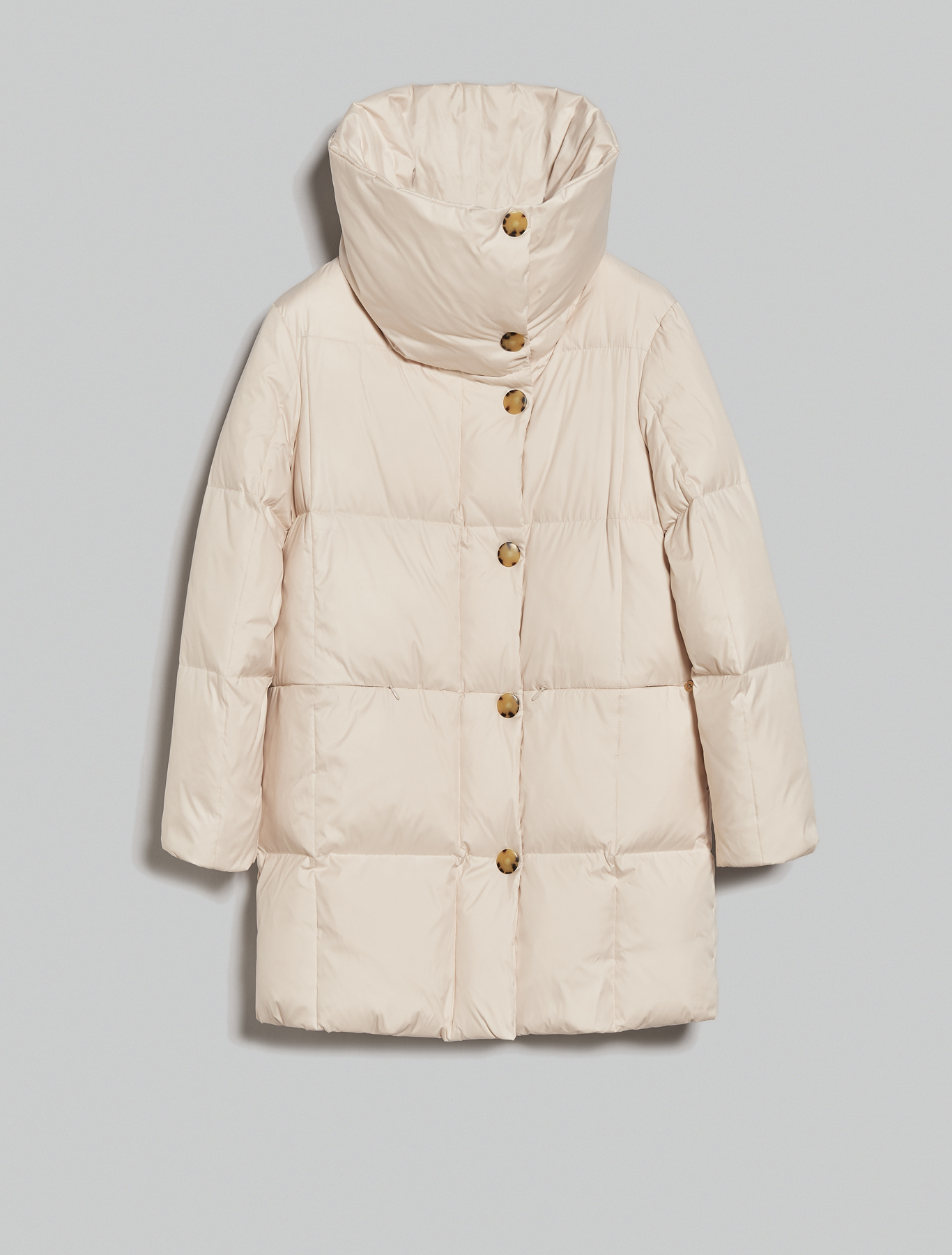 Down jacket with maxi collar - ivory - pennyblack