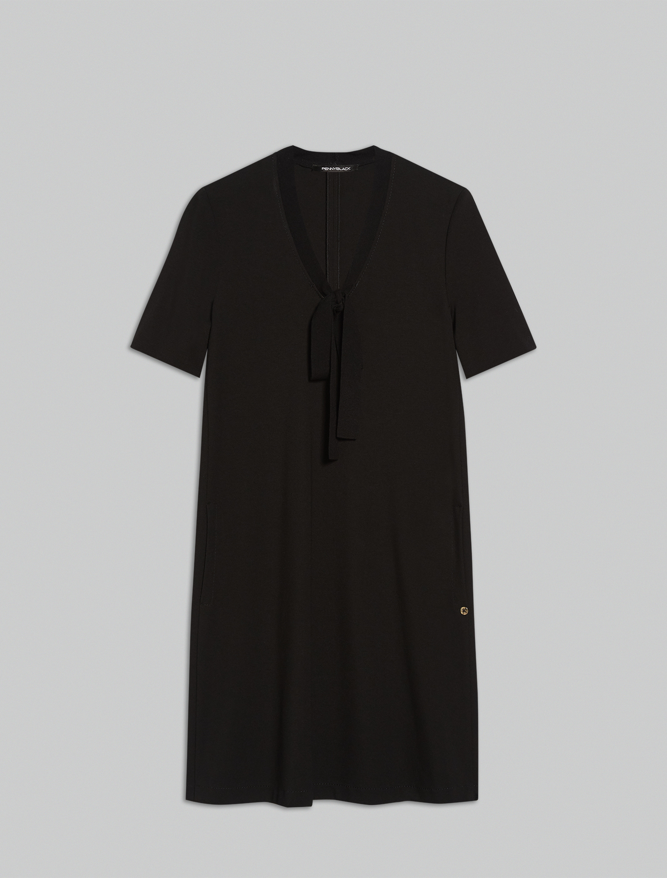 Jersey A-line dress - black - pennyblack