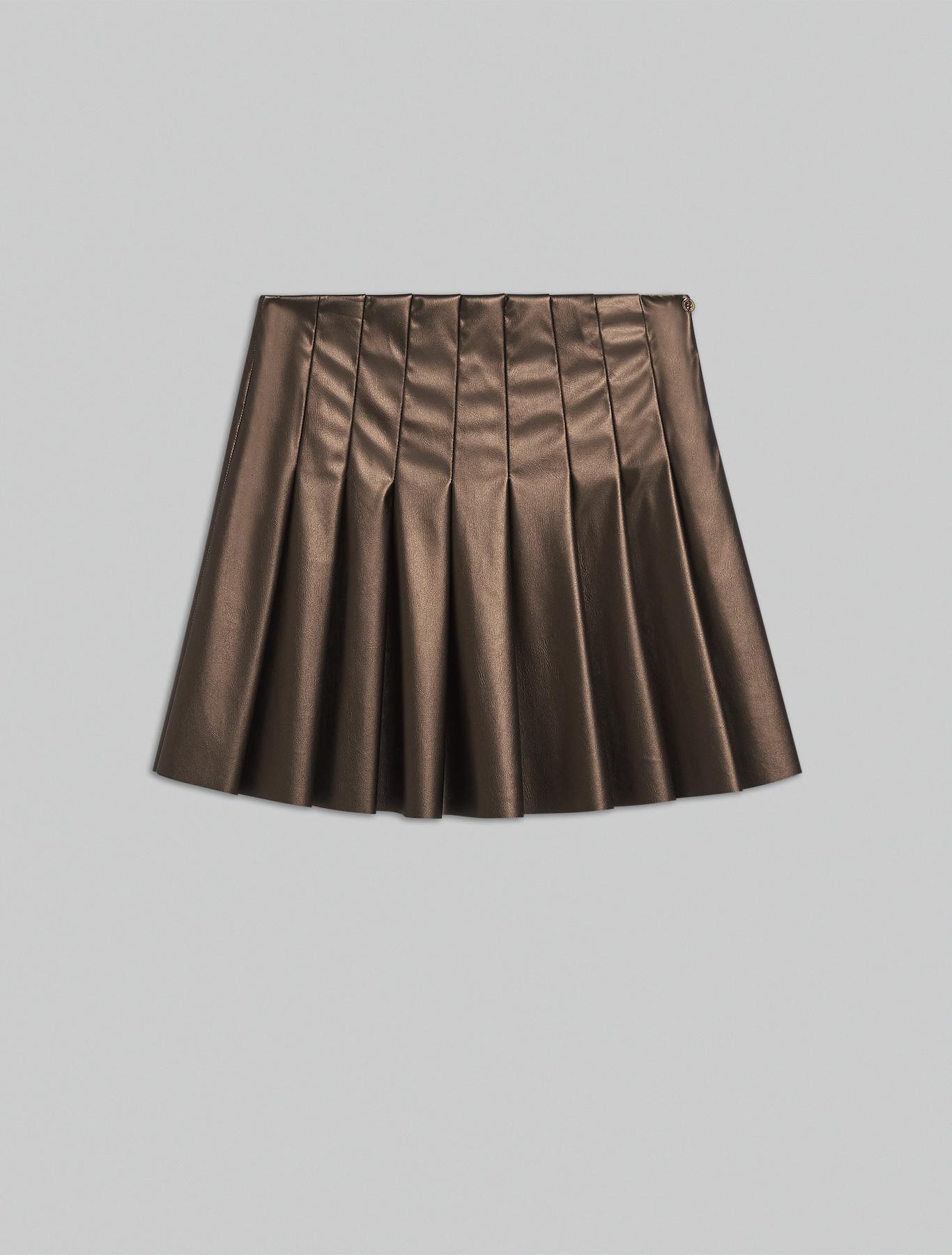 Metallic jersey skirt - bronze - pennyblack