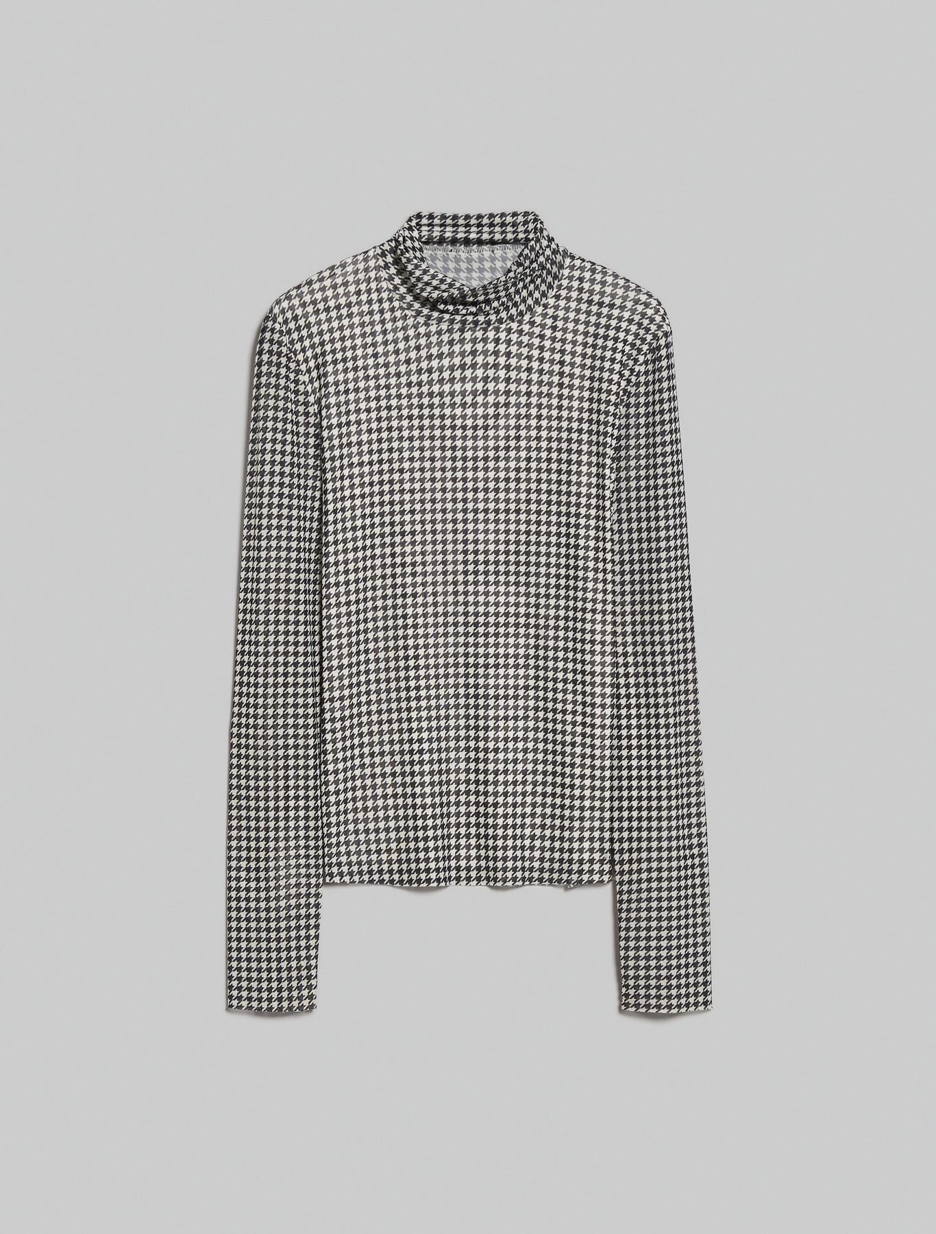 Micro-mesh T-shirt - black pattern - pennyblack