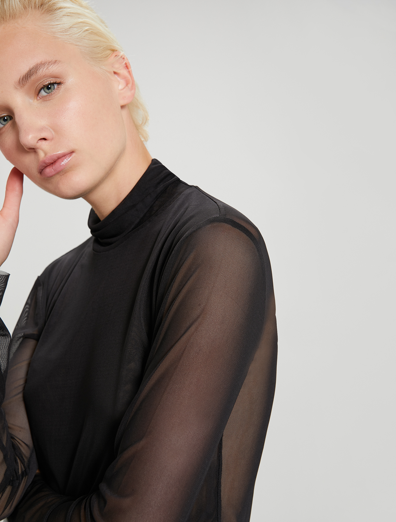 Micro-mesh T-shirt - black - pennyblack