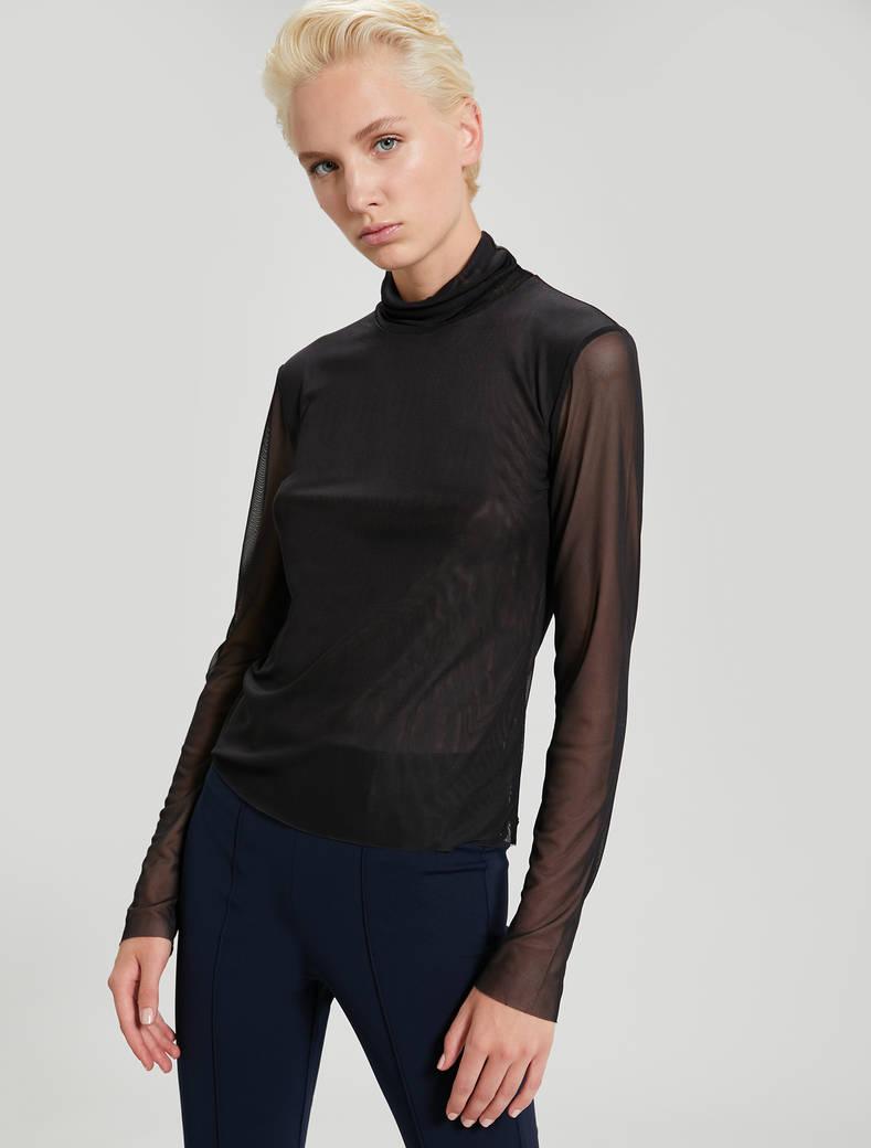 T-shirt in micro rete - nero - pennyblack