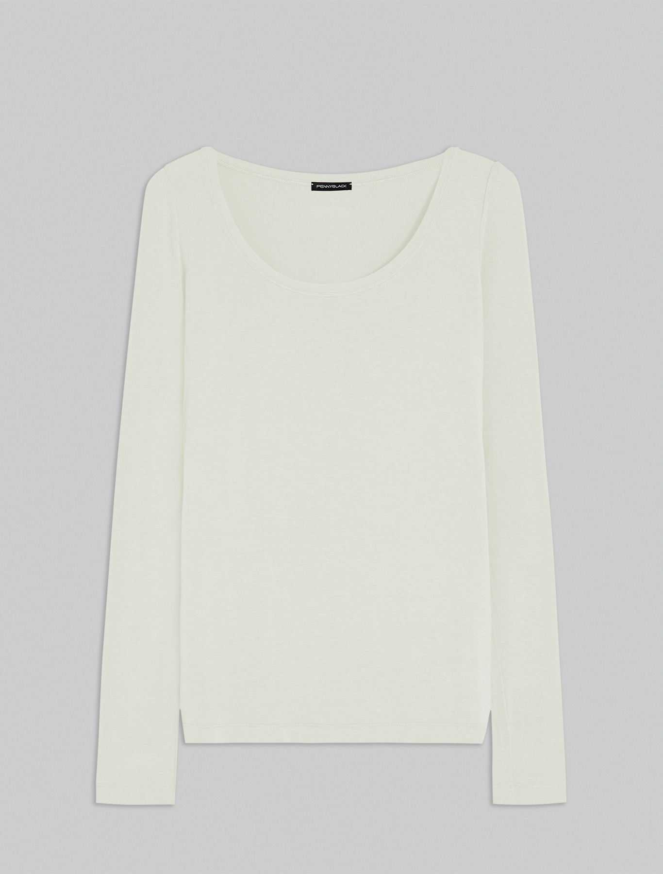 Modal and cashmere T-shirt - ivory - pennyblack