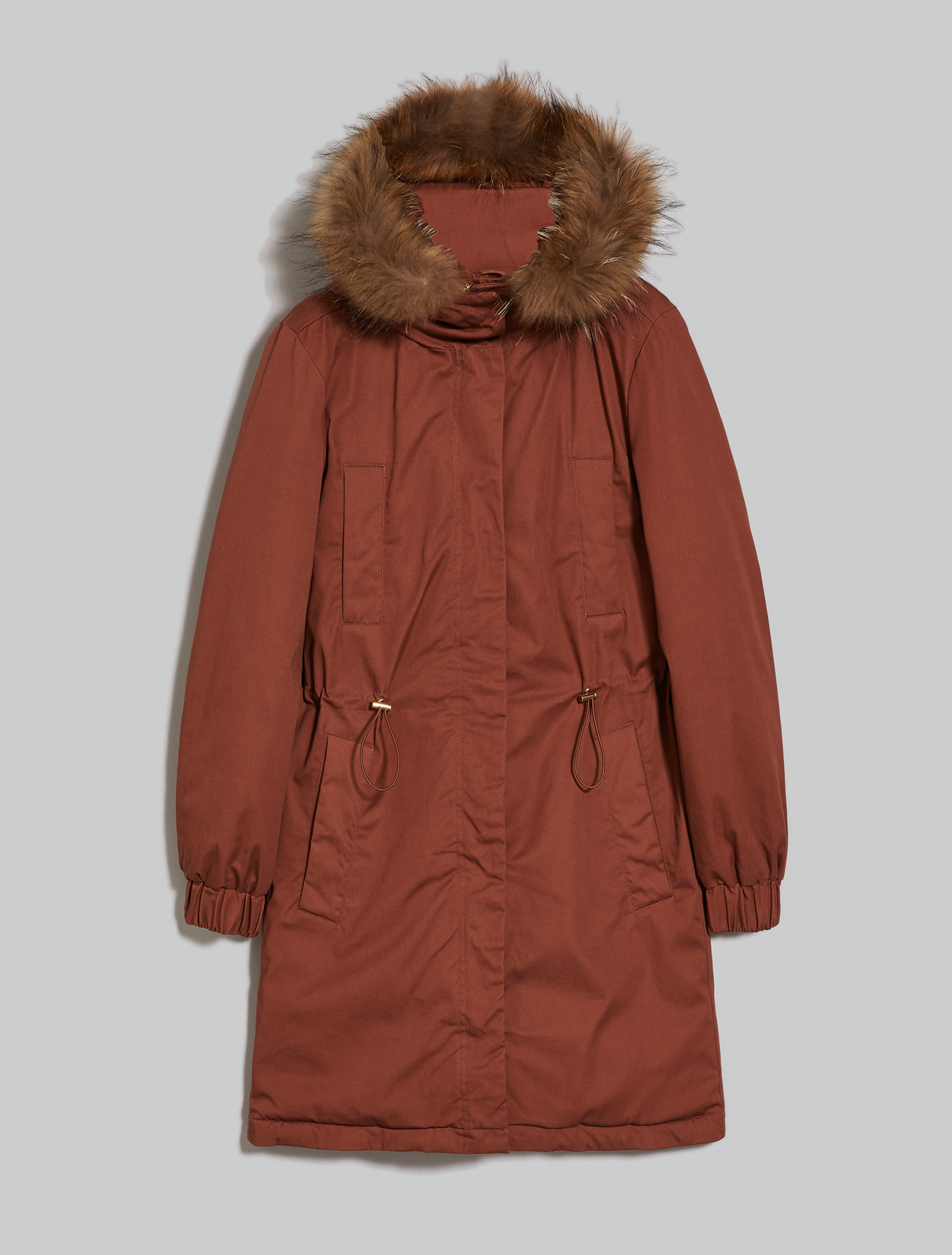 Padded parka with hood - dark brown - pennyblack