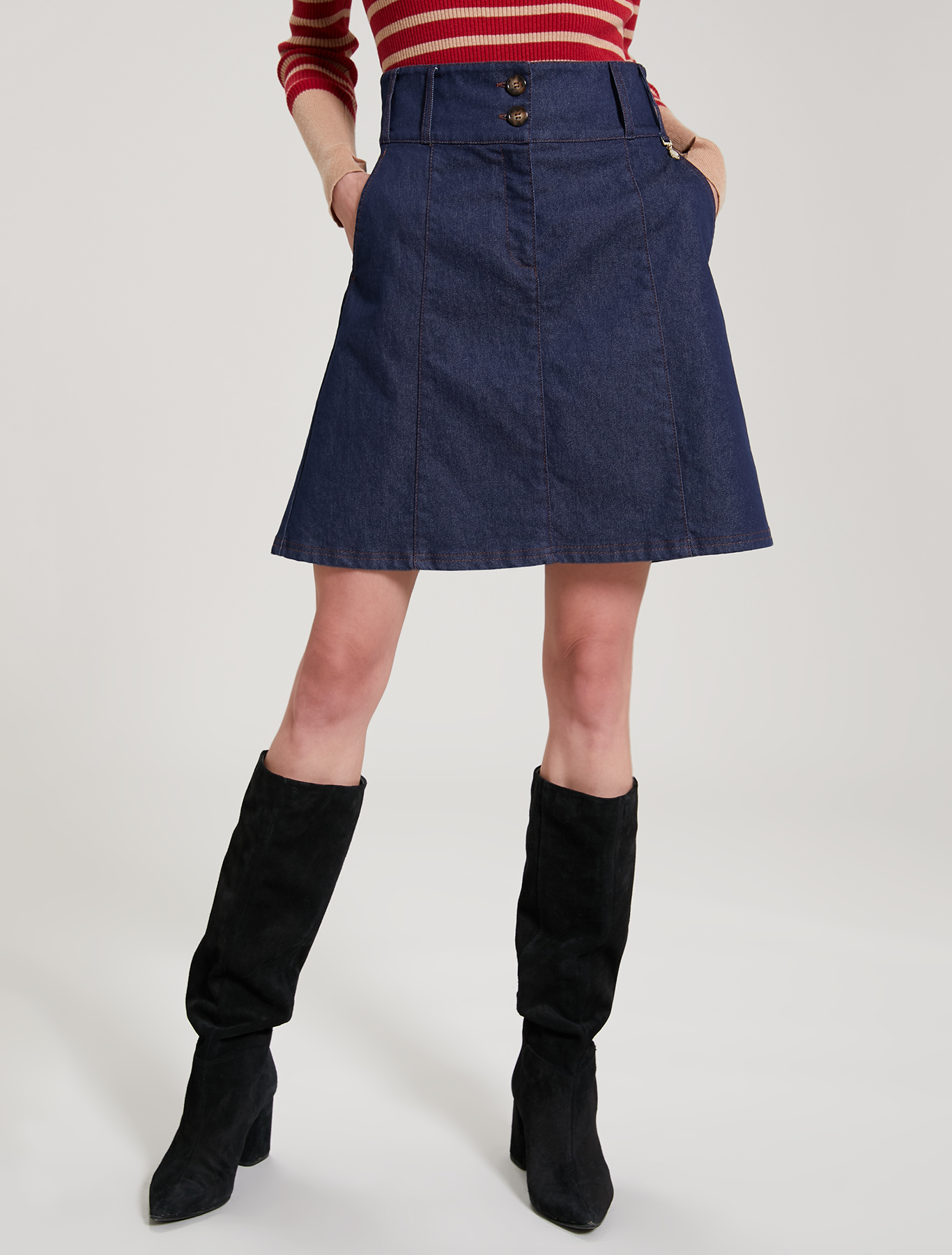 Blue denim skirt - midnight blue - pennyblack