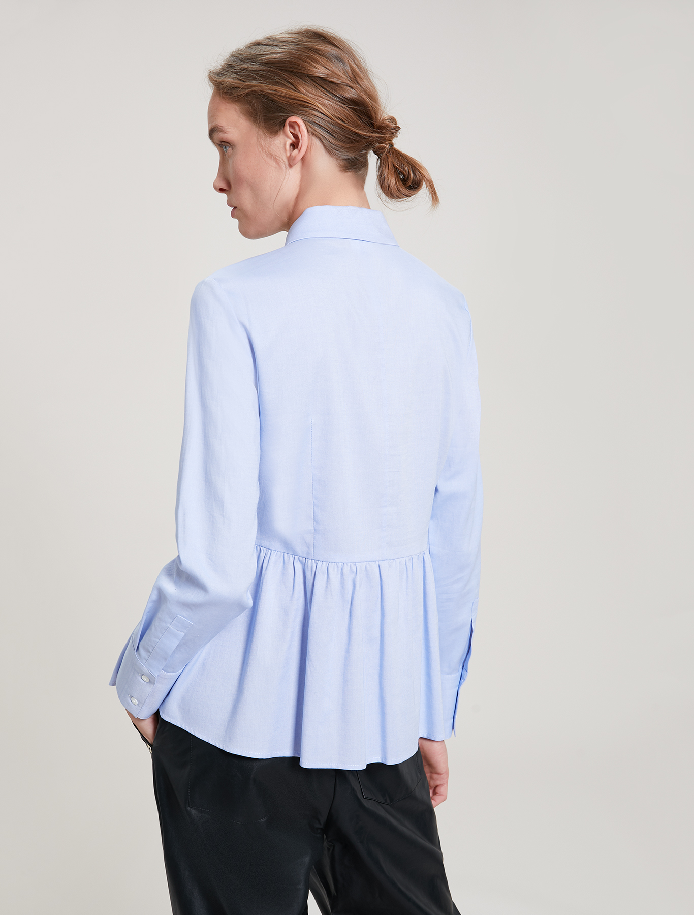 Oxford cotton shirt - light blue - pennyblack