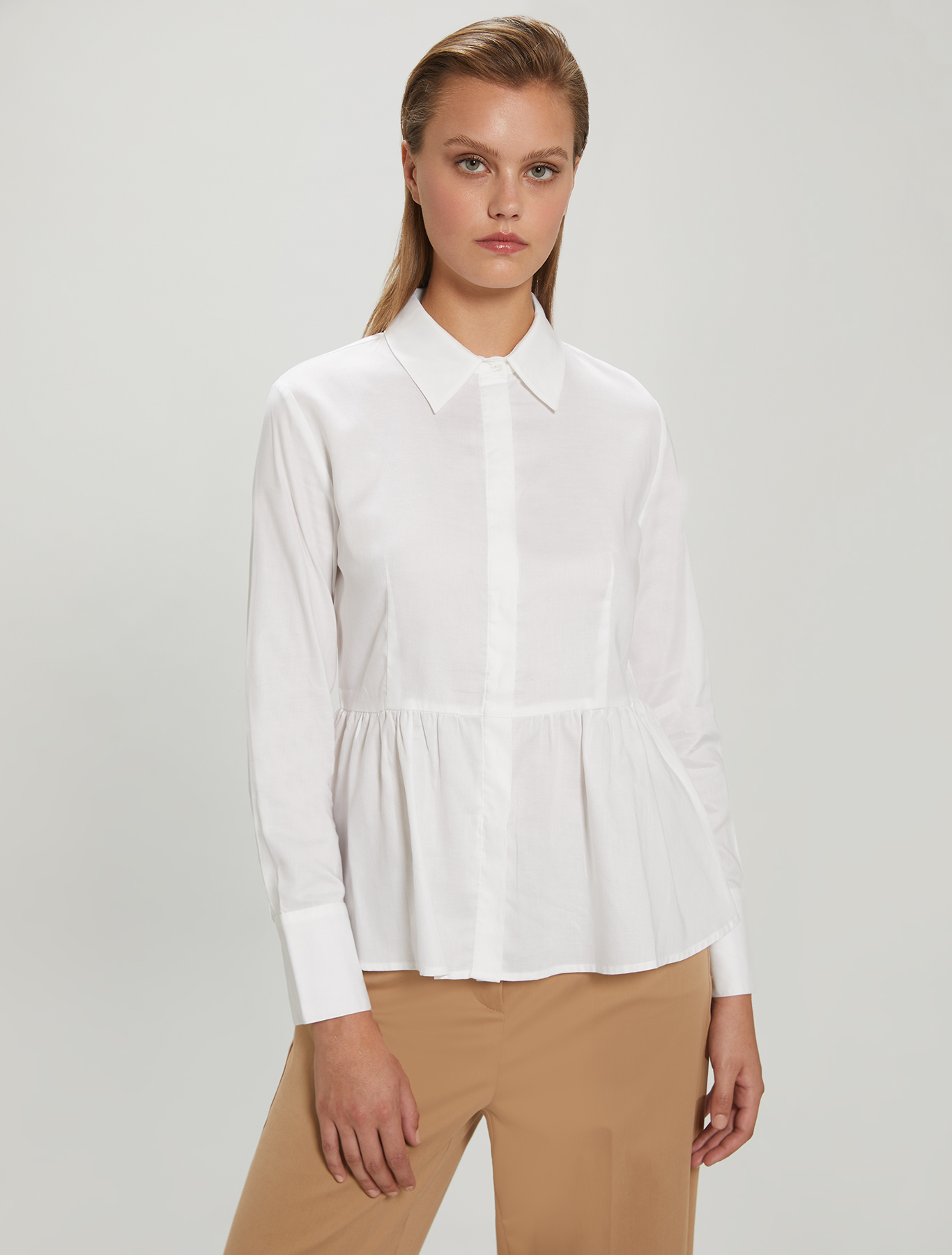 Oxford cotton shirt - optic white - pennyblack
