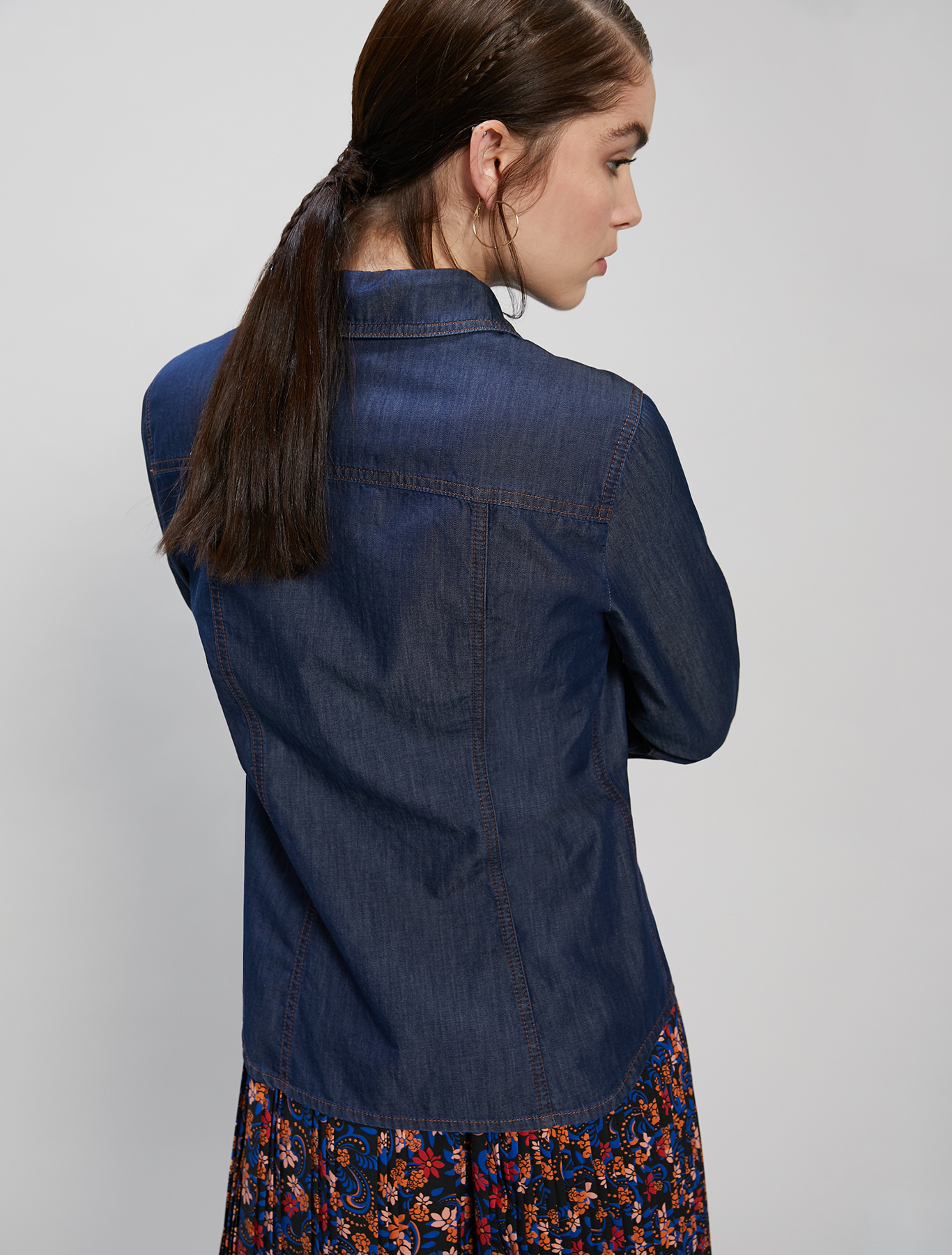 Lightweight denim shirt - midnight blue - pennyblack