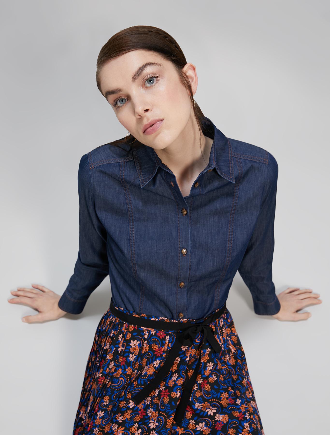 Lightweight denim shirt - midnight blue - pennyblack