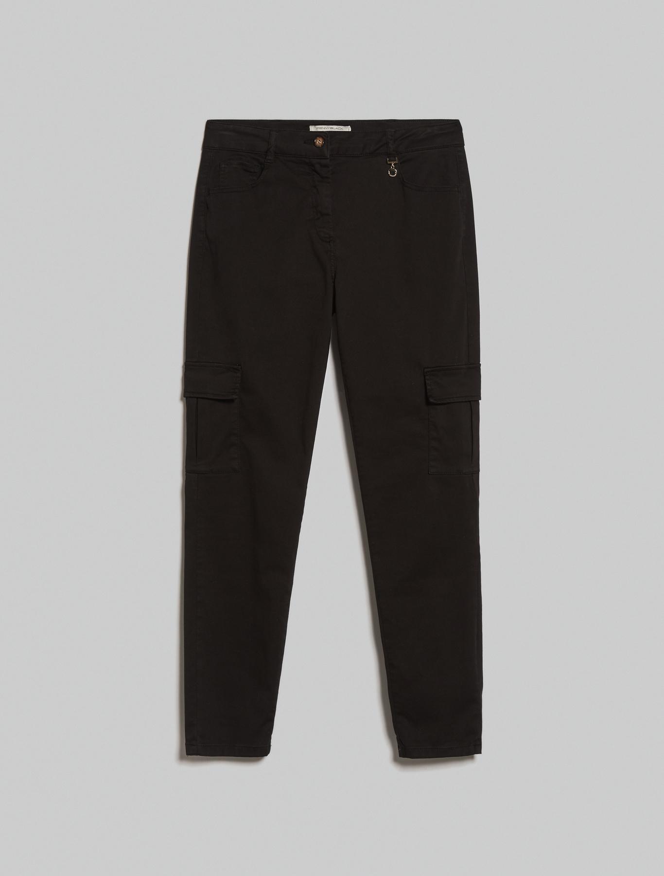 Skinny cargo trousers - black - pennyblack
