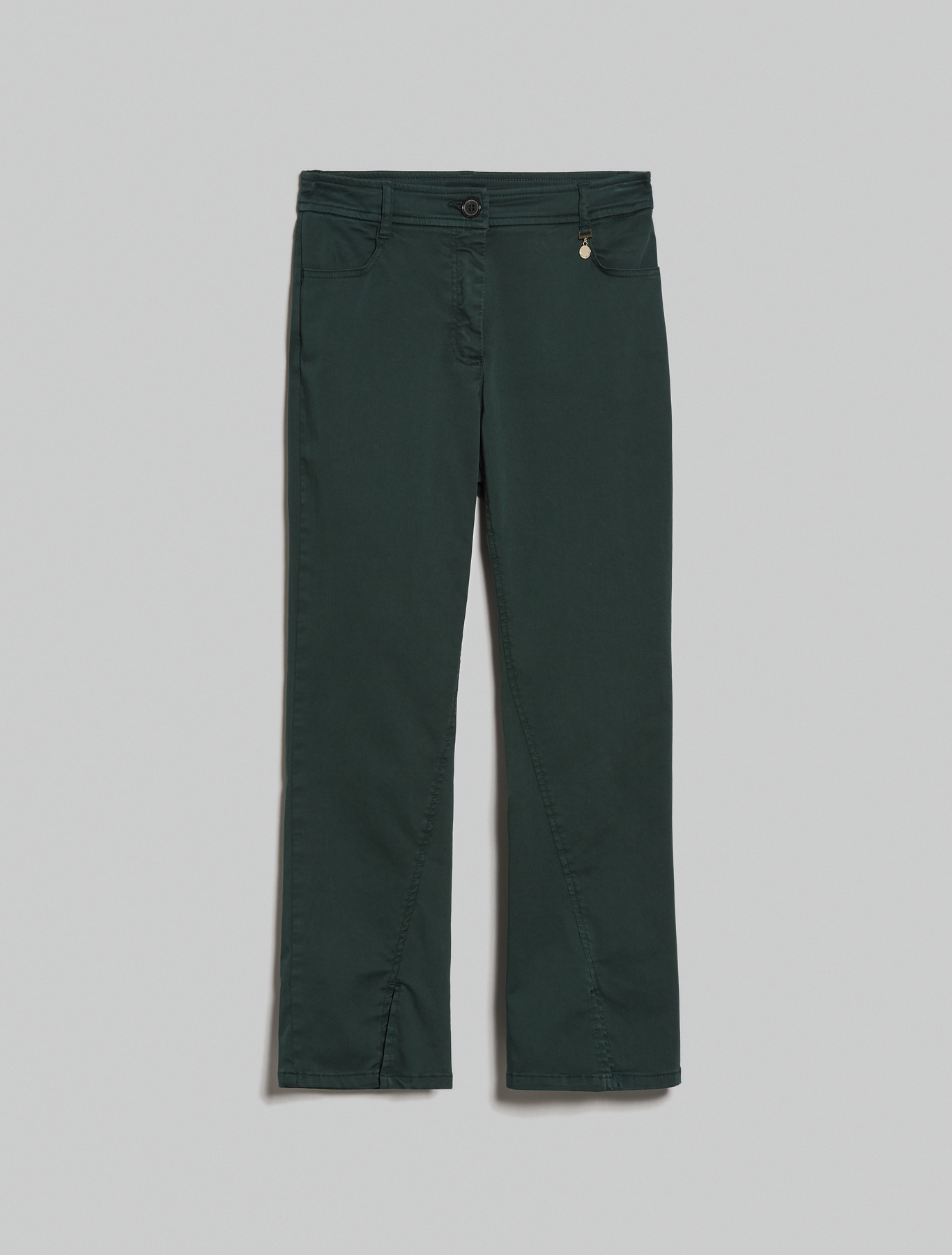 Kick-flare trousers - green - pennyblack
