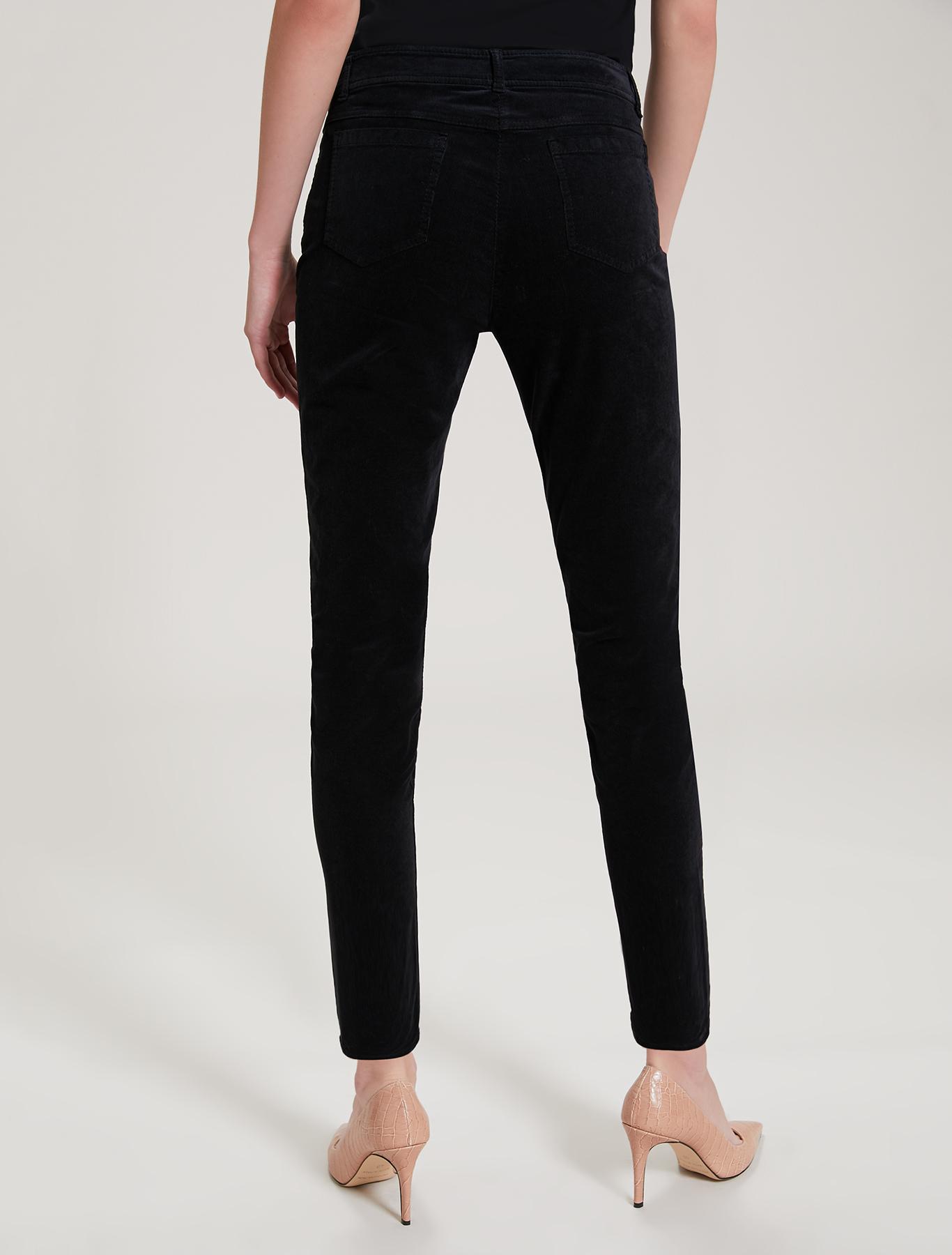 Ribbed velvet trousers - black - pennyblack