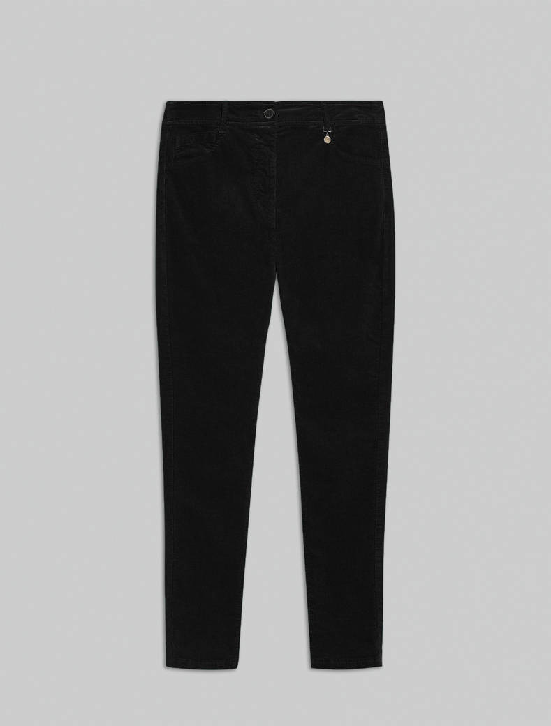 Ribbed velvet trousers - black - pennyblack