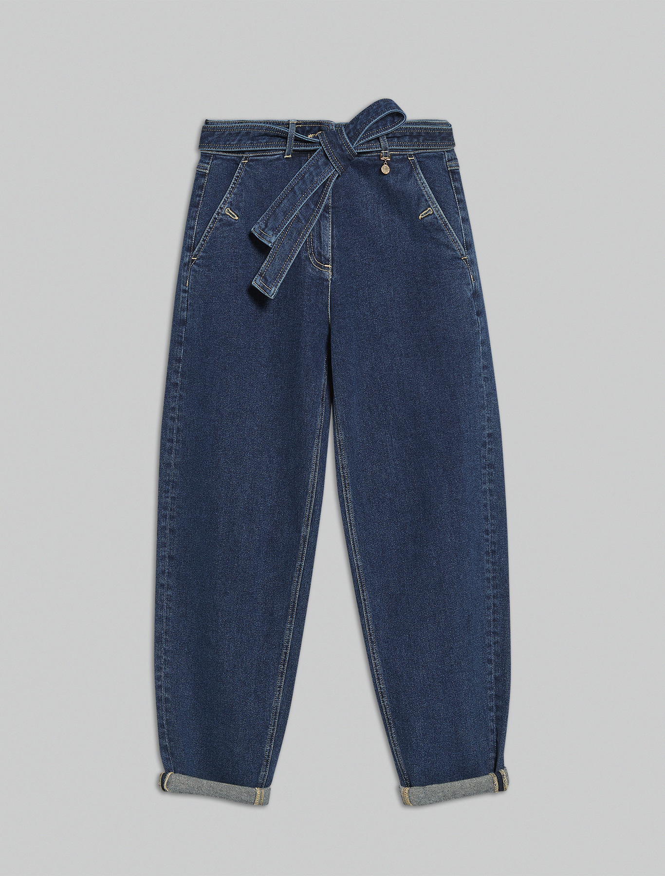 Barrel-leg jeans - midnight blue - pennyblack