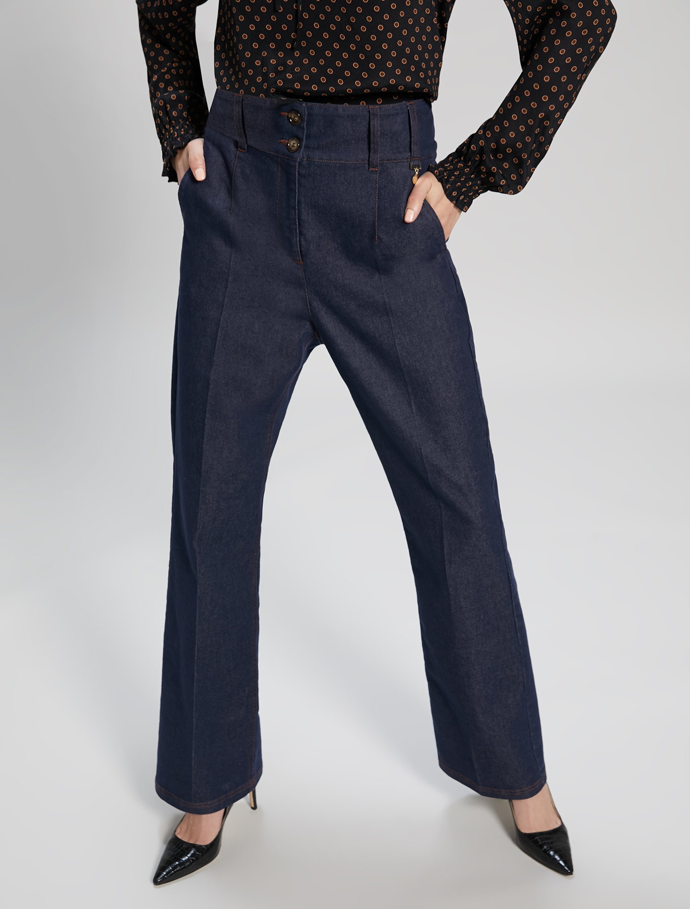 Blue bootcut jeans - midnight blue - pennyblack