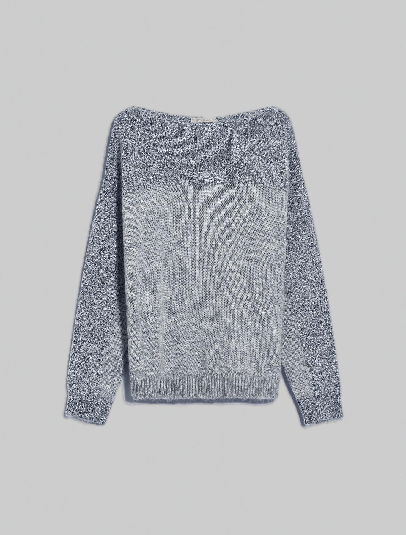 Lamé mohair jumper - dark grey - pennyblack