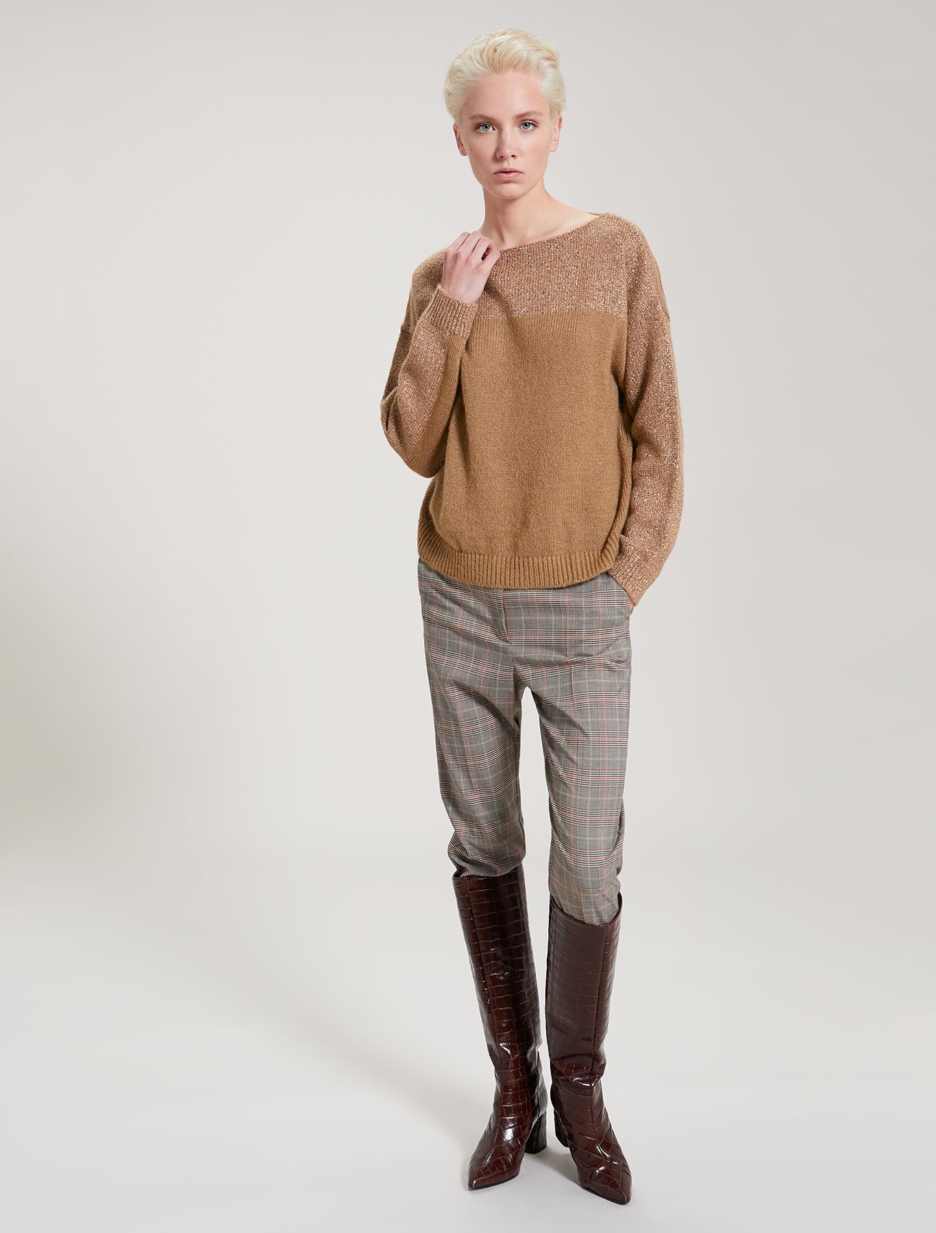Lamé mohair jumper - beige - pennyblack