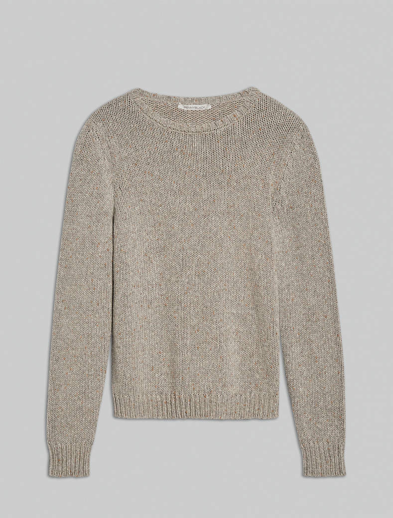 Crew neck lamé jumper - medium grey - pennyblack