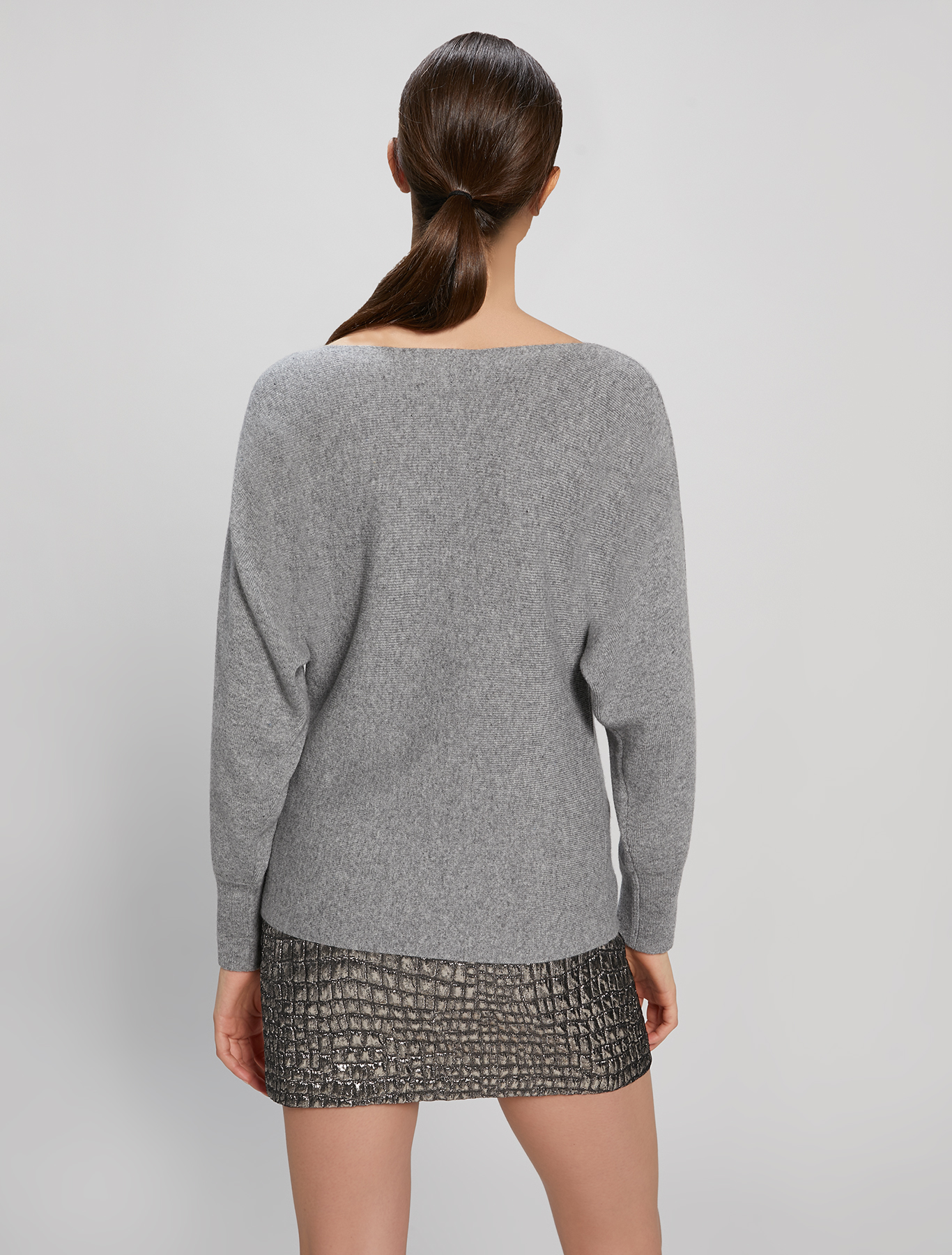 Jumper with kimono sleeves - medium grey - pennyblack
