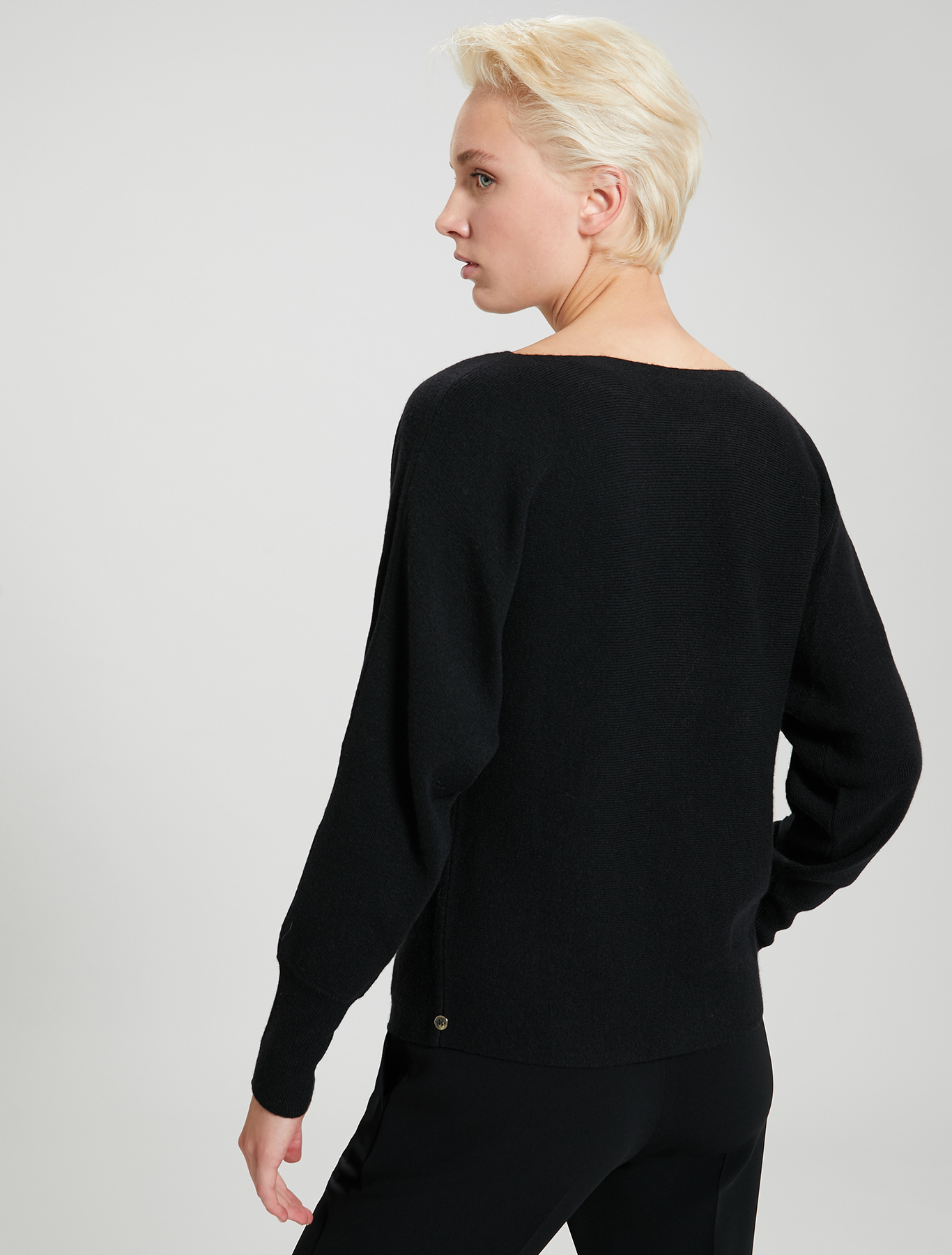 Jumper with kimono sleeves - black - pennyblack