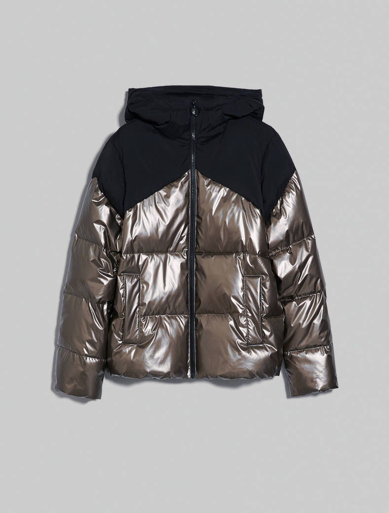 Padded metallic jacket - bronze - pennyblack