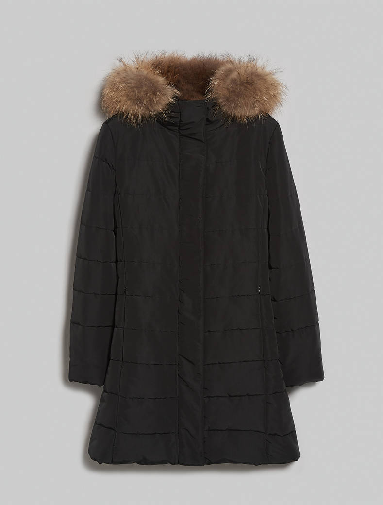Padded coat with hood - black - pennyblack