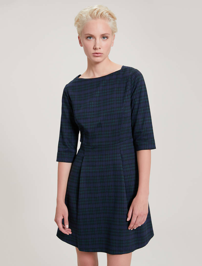 Jacquard jersey dress - green pattern - pennyblack