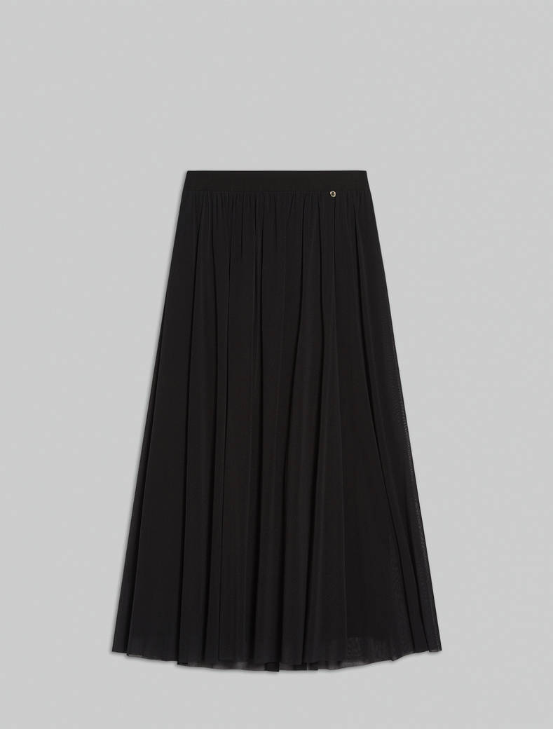 Long tulle skirt - black - pennyblack