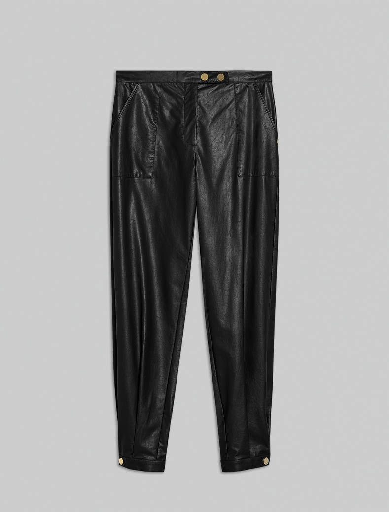Jersey coated trousers - black - pennyblack