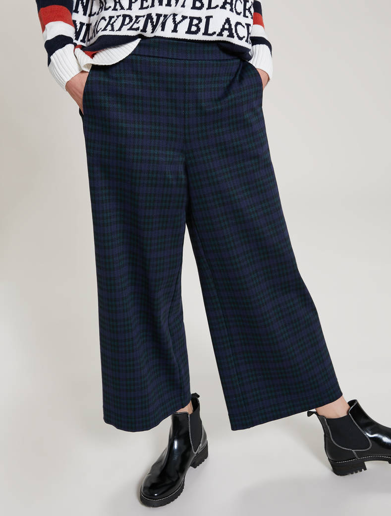 Jacquard jersey trousers - green pattern - pennyblack