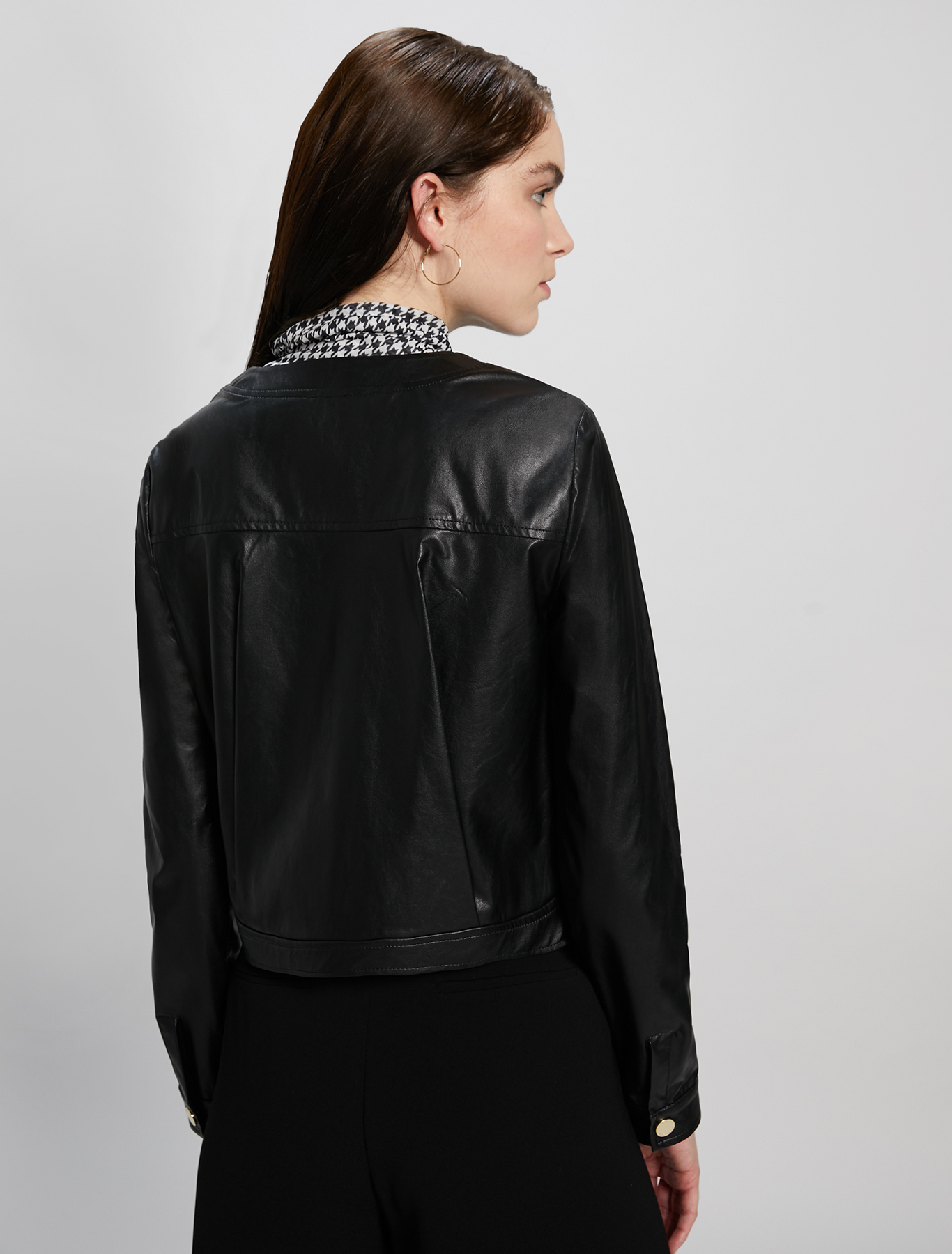 Coated jersey jacket - black - pennyblack