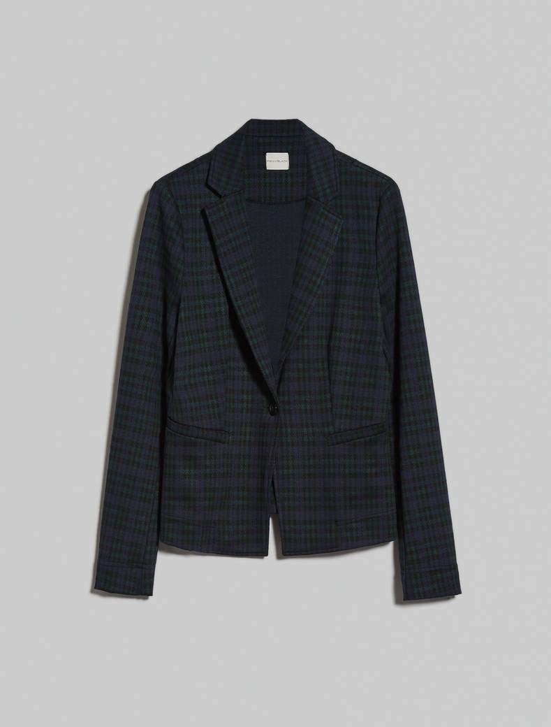Jacquard jersey blazer - green pattern - pennyblack