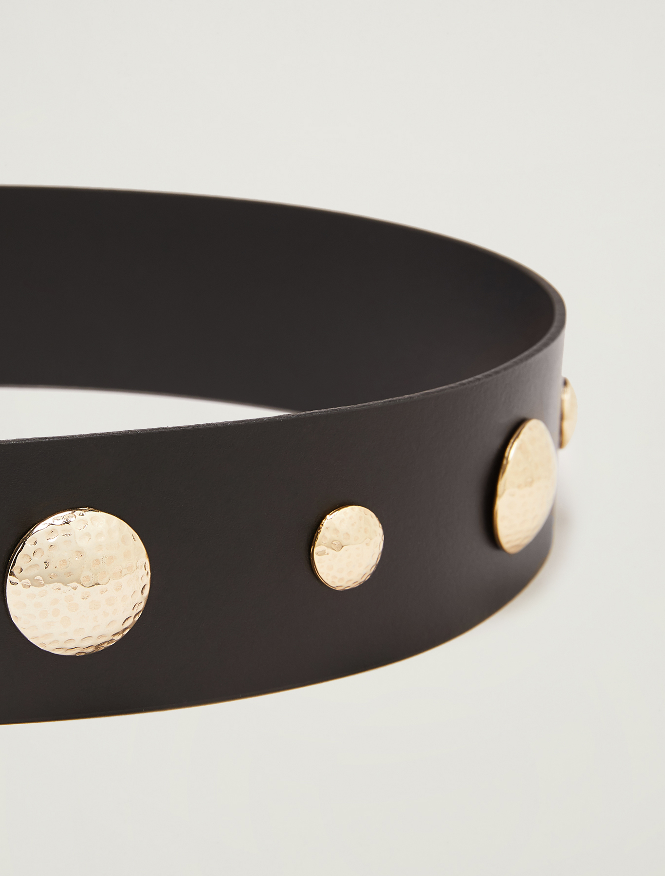 Belt with maxi studs - black - pennyblack