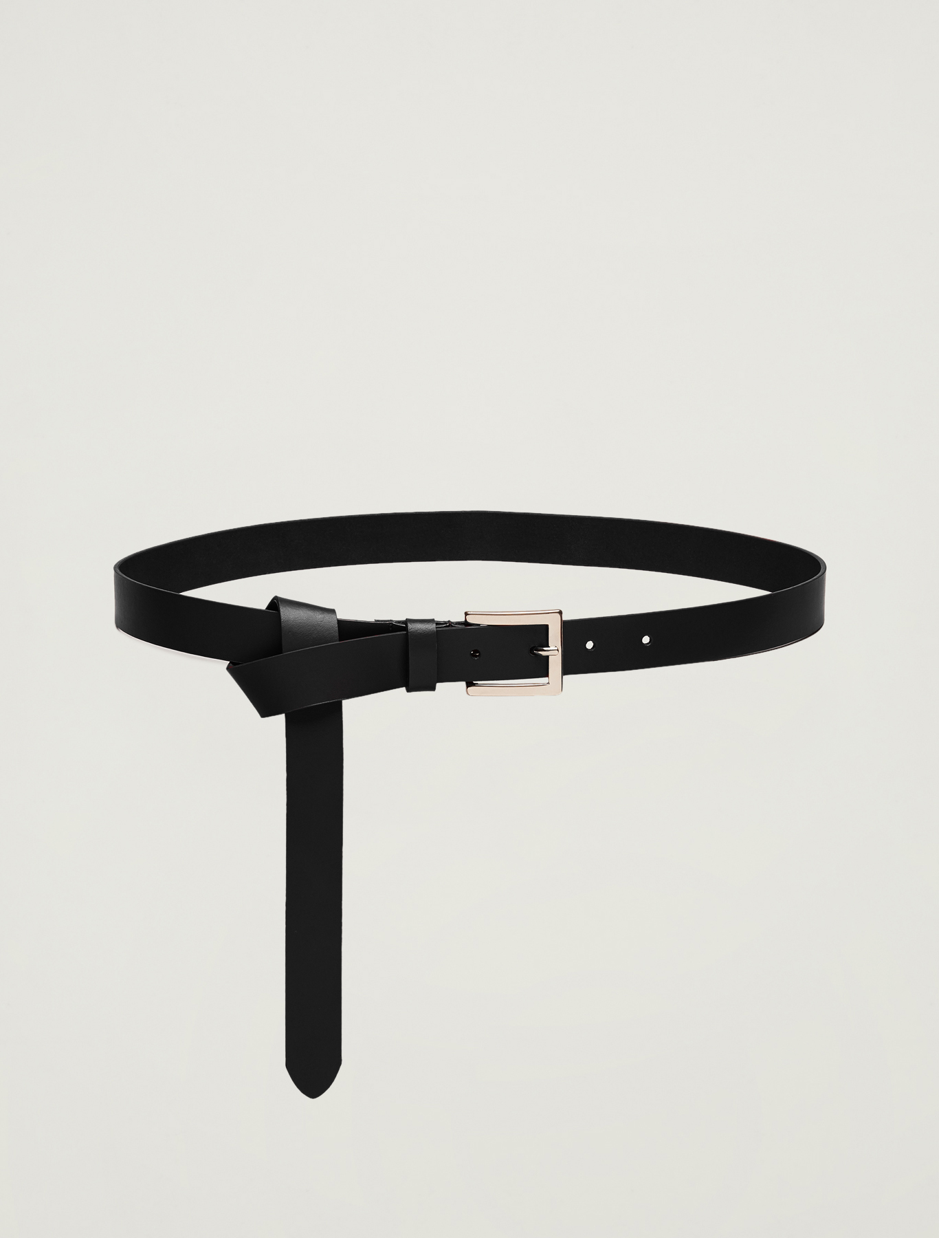 Leather belt - black - pennyblack