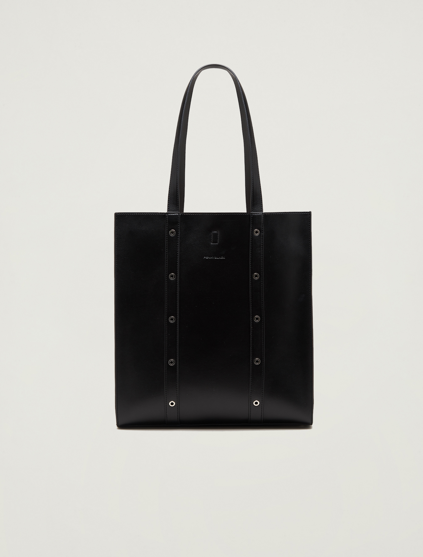 Shopping bag con borchie - nero - pennyblack