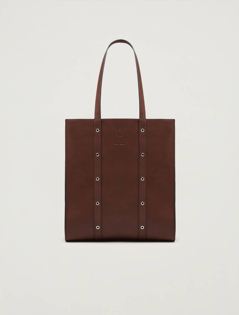 Studded shopper - brown - pennyblack