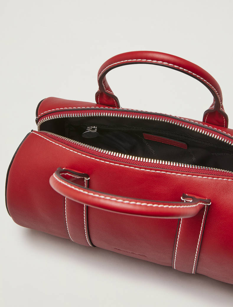 Cylinder Boston bag - red - pennyblack