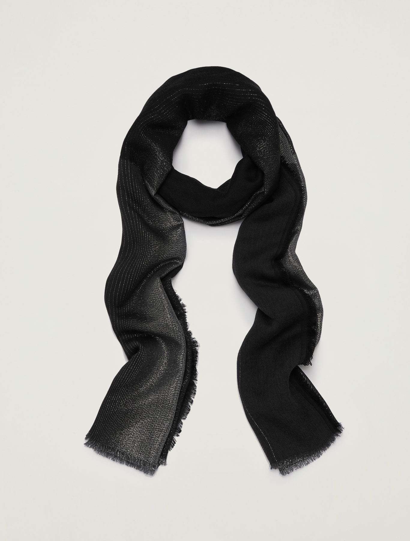 Stole with fade-effect lamé - black - pennyblack