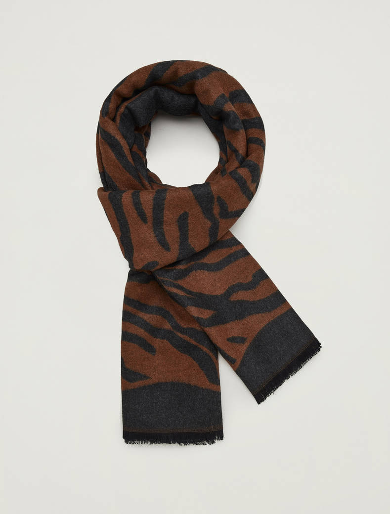 Jacquard stole - brown - pennyblack