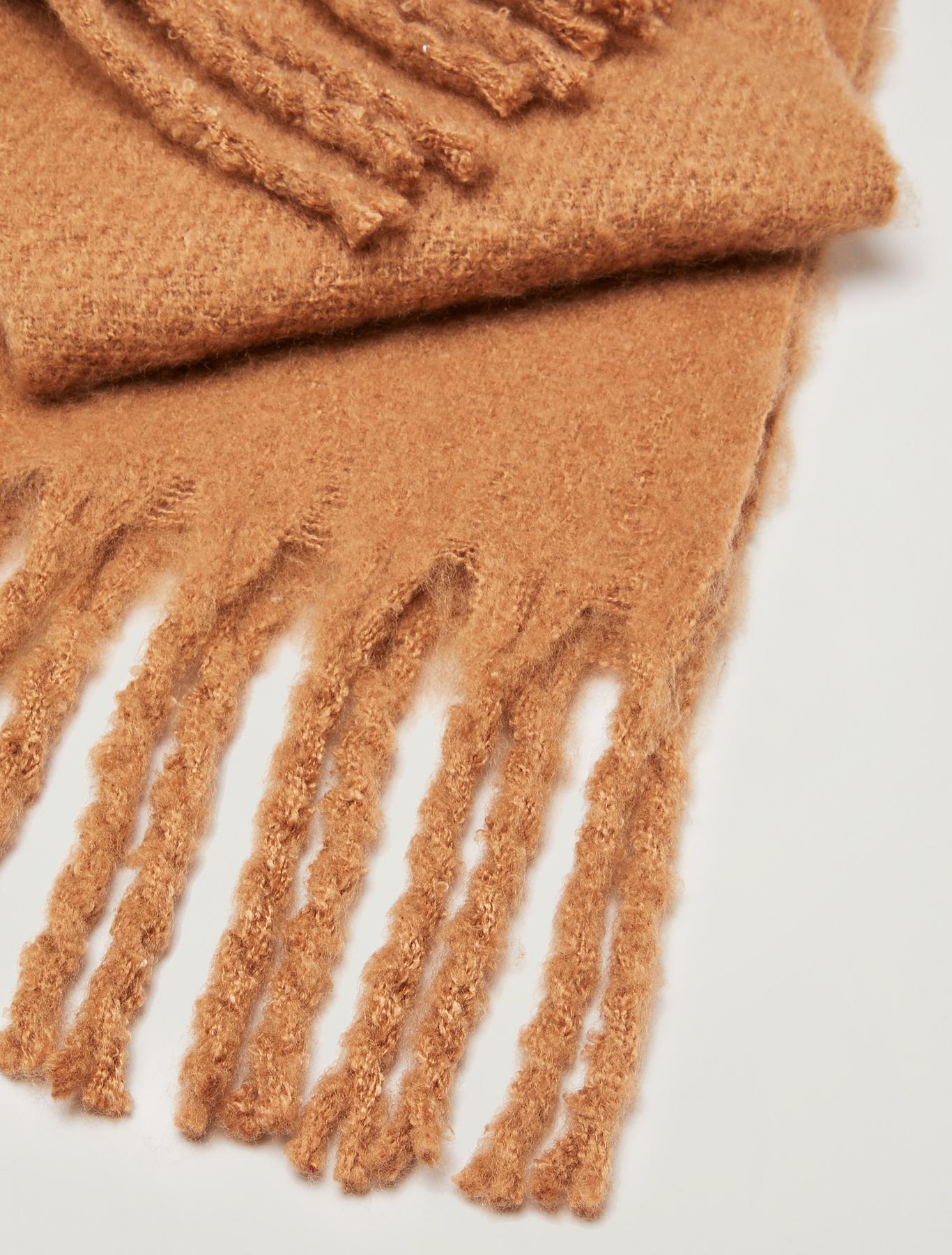 Maxi fringed scarf - beige - pennyblack