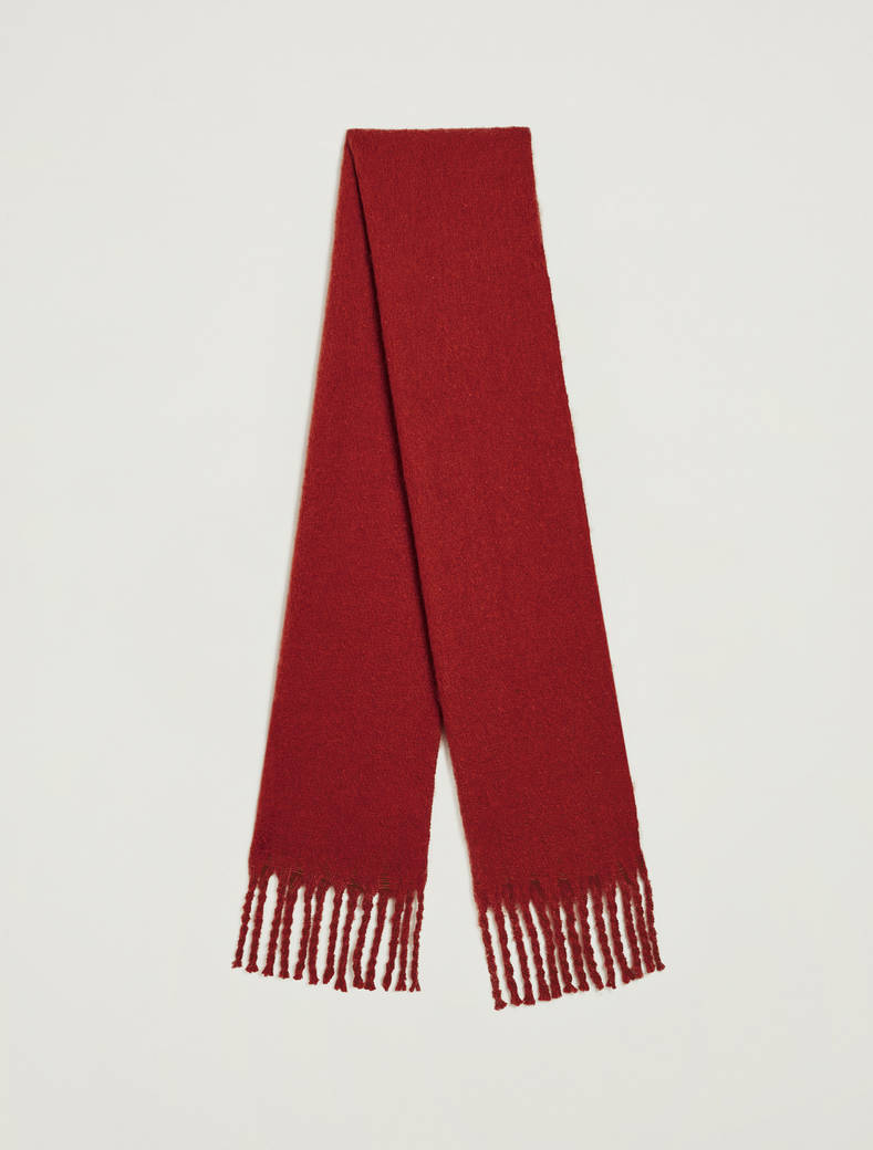 Maxi fringed scarf - brown - pennyblack